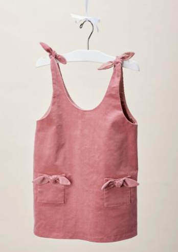 Lil' Lemons Organic Cotton Rose Pink Corduroy Romper for Baby Girl