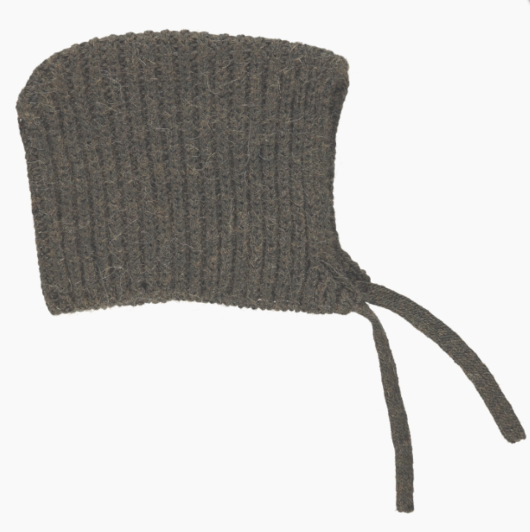 Brown Wool Bonnet
