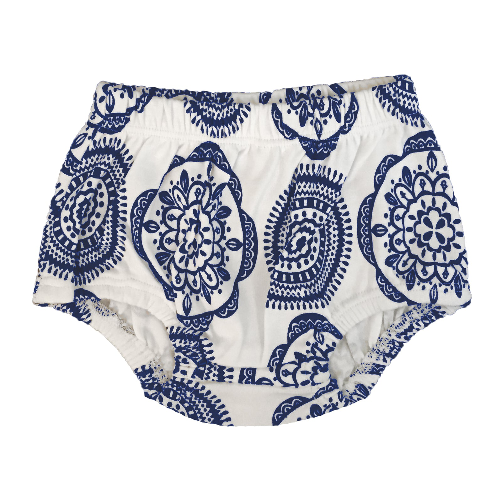 Spunky Stork organic cotton blue medallion bloomers