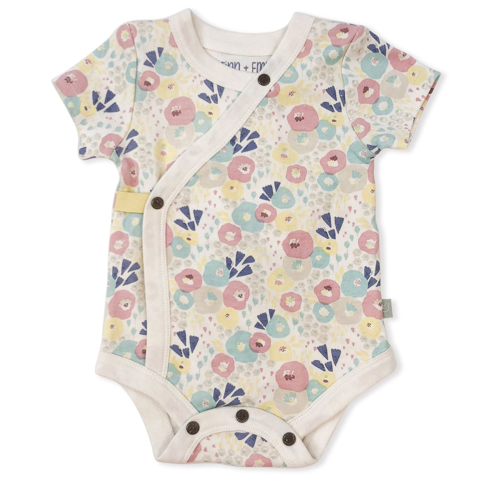 Finn and Emma Organic Cotton Floral Print Onesie