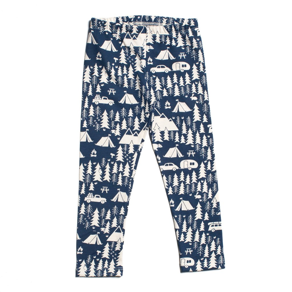 Winter Water Factory Organic Baby Leggings Camper Print