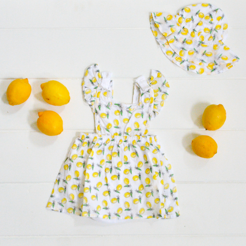 Organic Cotton Lil Lemons Lemon Print Dress for Baby