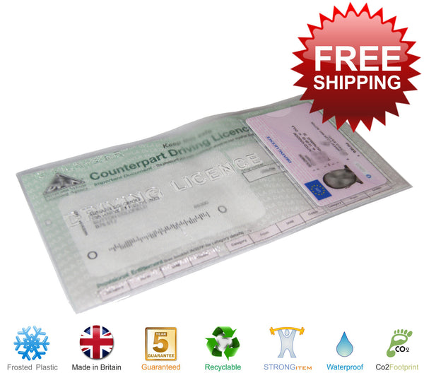 Driving Licence License Wallet Cover Holder Plastic Vinyl DVLA - Klayzer