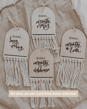 Load image into Gallery viewer, CUSTOM REVERSIBLE MACRAME DOOR SIGN