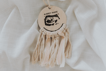 Load image into Gallery viewer, ULTRASOUND engraved macrame hanging sign