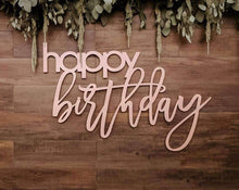 Load image into Gallery viewer, happy birthday laser cut sign - 36x24""