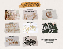Load image into Gallery viewer, Wooden custom name sign - wall hanging 2pc set, mixed fonts