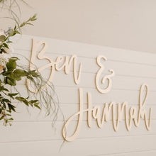 Load image into Gallery viewer, Custom Phrase Sign Set - laser cut signage for backdrop decor