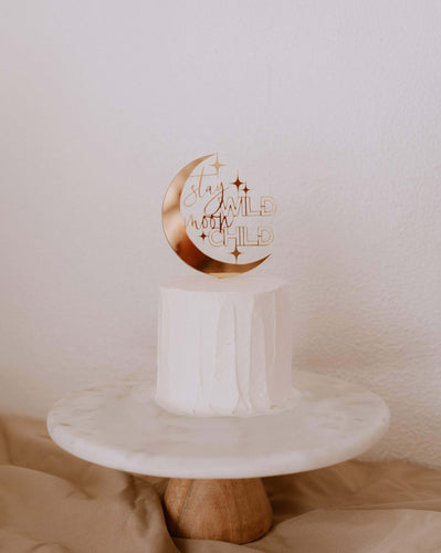 stay wild moon child cake topper, moon child cake topper, baby cake topper, moon cake topper, moon party decor, celestial birthday decor