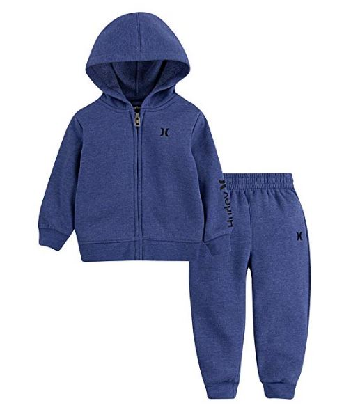 Hurley - TWO PIECE ONE & ONLY BABY JOGGER SET (HEATHER BLUE) - sizes 12M-24M