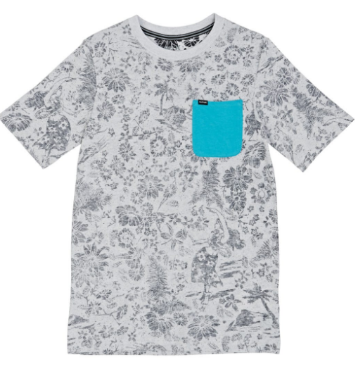Hurley - PRINTED TEE (BIRCH HEATHER) - sizes 12/18/24 MTHS