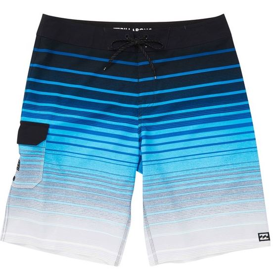 "Billabong - ALL DAY STRIPE PRO BOARDSHORTS (BLUE) YOUTH SIZES 23""-26"""