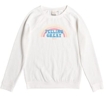 Roxy - PULLOVER SWEATSHIRT FEELING GREAT (MARSHMALLOW) - Youth Size 10 &12