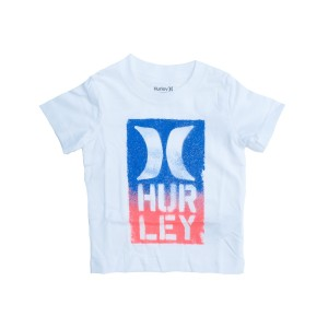 Hurley - WHITE/BLUE/ORANGE Size 2-7