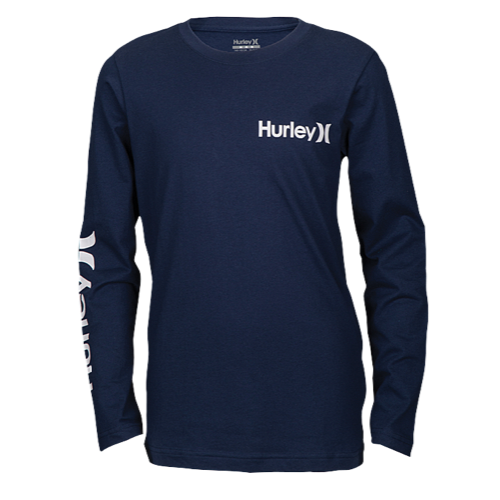 Hurley - VINTAGE ONE AND ONLY LONG SLEEVE (MIDNIGHT NAVY) Size 2T-3T