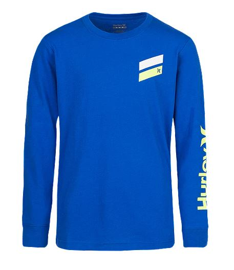 Hurley - SLASH LONG SLEEVE TEE (GAME ROYAL) Sizes 2T-3T
