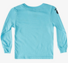 Quiksilver - Check Yo Self Long Sleeve Tee (Pacific Blue) - Sizes 4-7