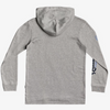 Quiksilver - CHECK YO SELF LONG SLEEVE HOODED TEE (ATHLETIC HEATHER) - Sizes Youth S-L