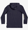 Quiksilver - CHECK YO SELF LONG SLEEVE HOODED TEE (PARISIAN NIGHT HEATHER) - Sizes Youth S-L