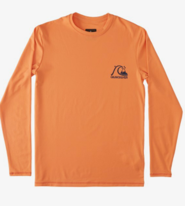 Quiksilver - HERITAGE LONG SLEEVE UPF 50 SURF TEE (NECTARINE) - Youth Sizes XS-L