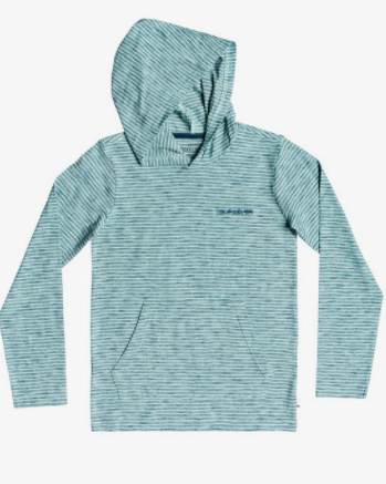 Quiksilver - KENTIN LONG SLEEVE HOODED TOP (BEACH GLASS) - Sizes S-L