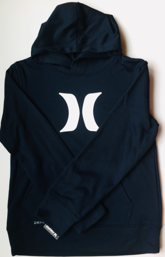 Hurley - ICON DRI FIT THERMA-FLEECE HOODIE (OBSIDIAN) - Youth Size S-XL