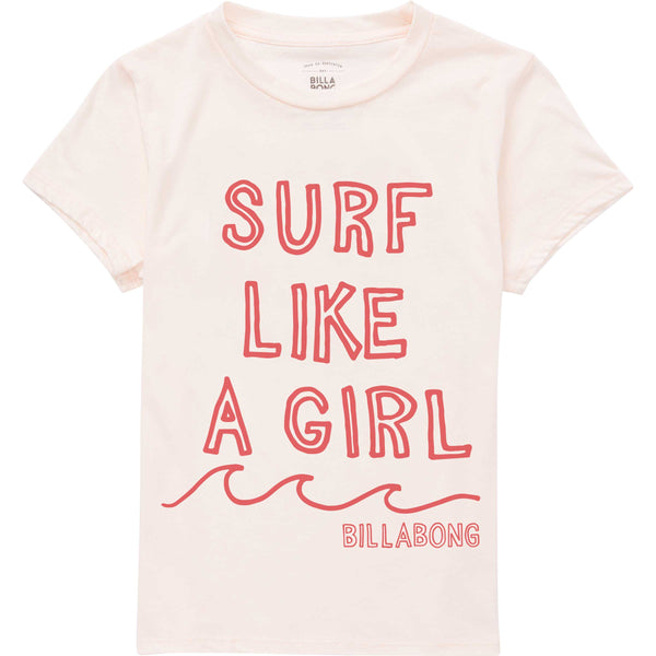 GIRLS' SURF LIKE A GIRL TEE