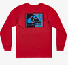 Quiksilver - FRACTAL LONG SLEEVE TEE (HIGH RISK RED) - Sizes 10-14