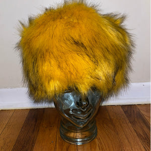 Mustard Faux Fur Hat