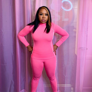 Pink Athletic Suit