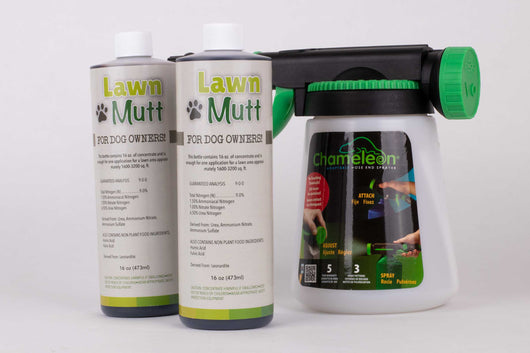 LawnMutt soil amendment for dog urine spots in lawn.