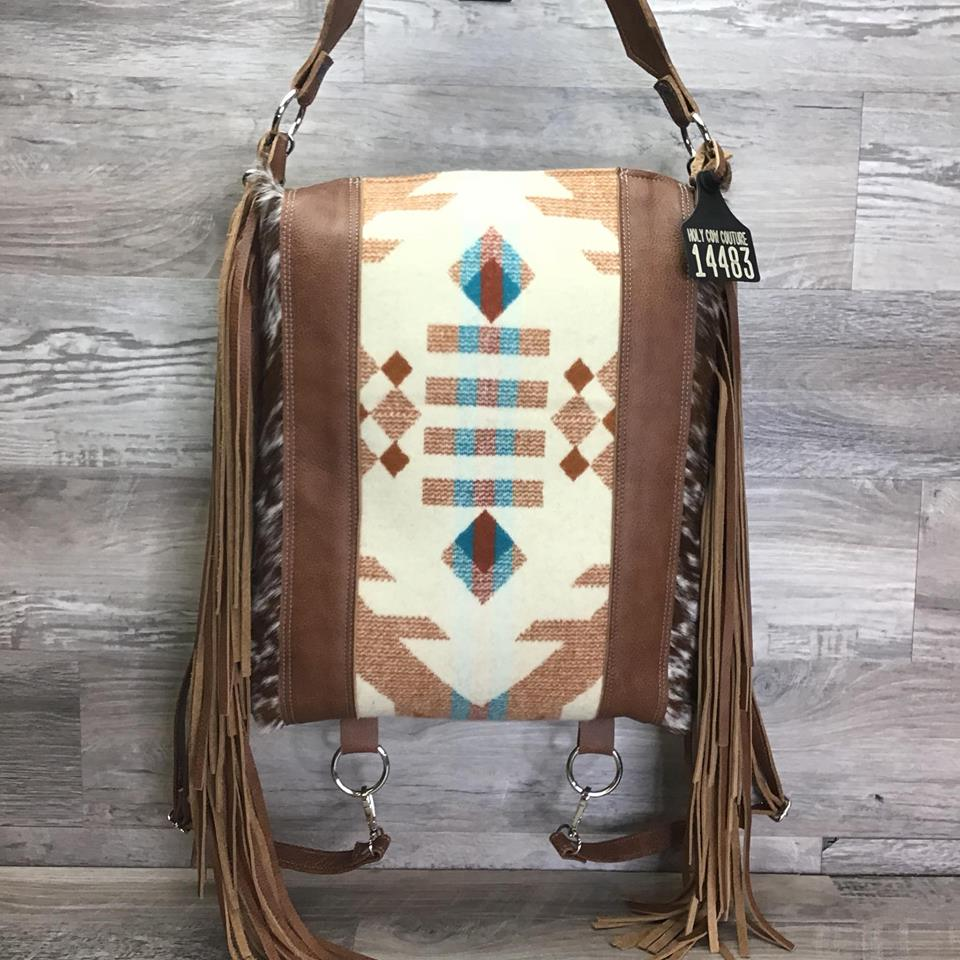 Bagpack - This Bagpack is a part of our Specialty Collection - made with genuine Pendleton® fabric - Double Fringe - Conceal Carry # 14483 -sk