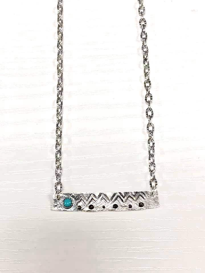 Brittany Exclusive Jewelry - Sterling Silver Necklace Turquoise #1