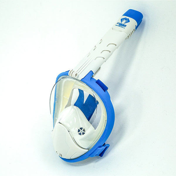 Cobra Mask v4.0 - WHITE CAP - Full Face Snorkel Mask
