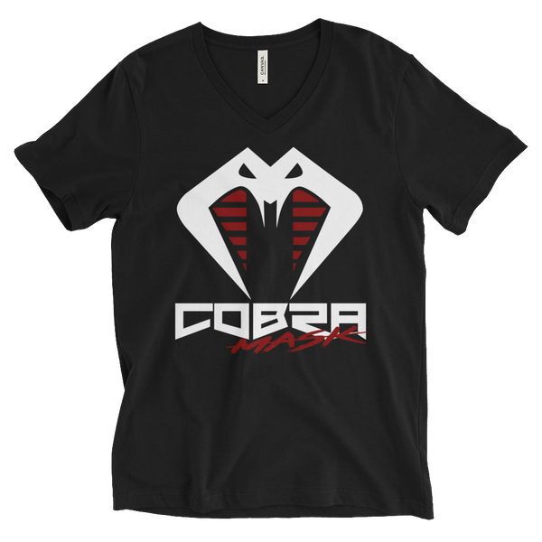 Cobra Mask Unisex Short Sleeve V-Neck T-Shirt
