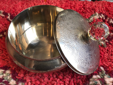 Silver Tin with Jeweled Knob