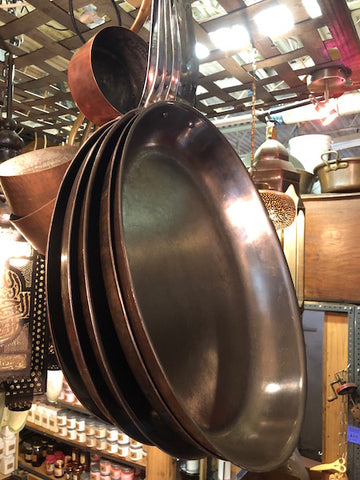 Copper Oval Skillet
