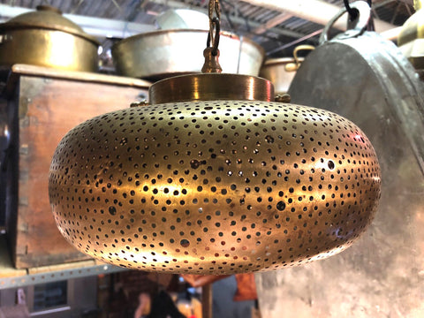 Round Copper Pendant