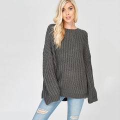 Nixon & Co Boutique -oversized grey sweater