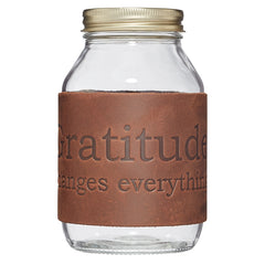 Nixon & Co Boutique - gratitude leather jar