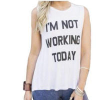 I'm Not Working Today Graphic Tee - Nixon & Co Boutique