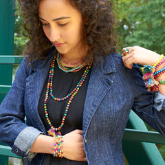 Nixon & Co Boutique - kantha bead long necklace