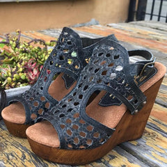 slate woven sandal - Nixon & Co Boutique