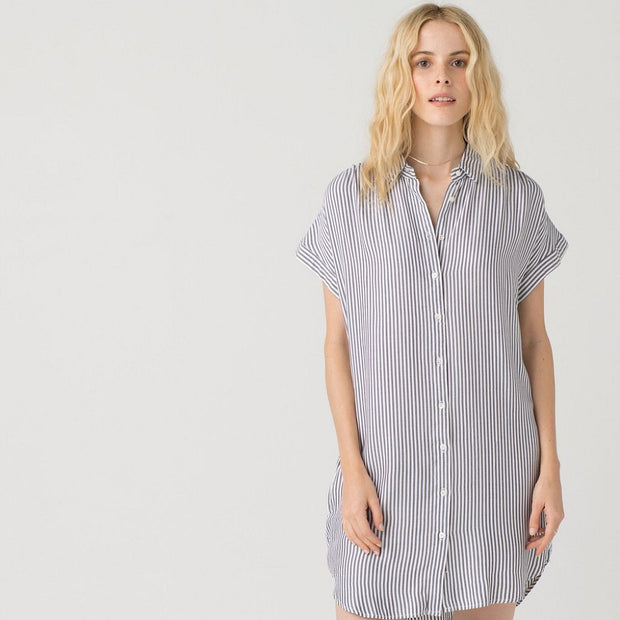 Pinstripe Dress - Nixon & Co Boutique