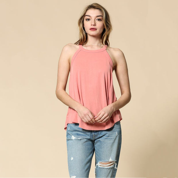 Coral Ribbed Racerback Swing Tank - Nixon & Co Boutique