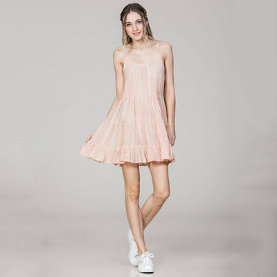 Coral Striped Flowy Tank Dress - Nixon & Co Boutique