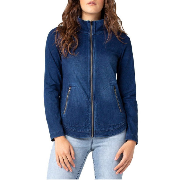 Curved Front Zip Jacket - Nixon & Co Boutique