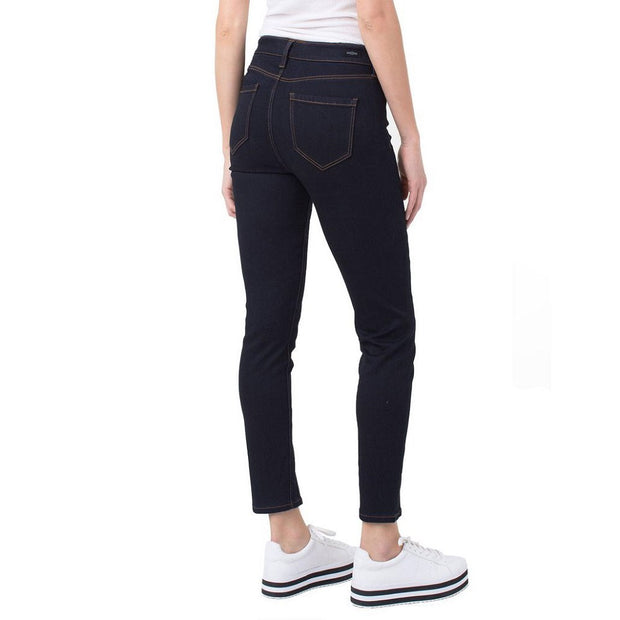 Dark Blue Ankle Split Jeans - Nixon & Co Boutique