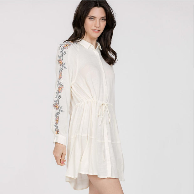 Embroidered Shirt Dress - Nixon & Co Boutique