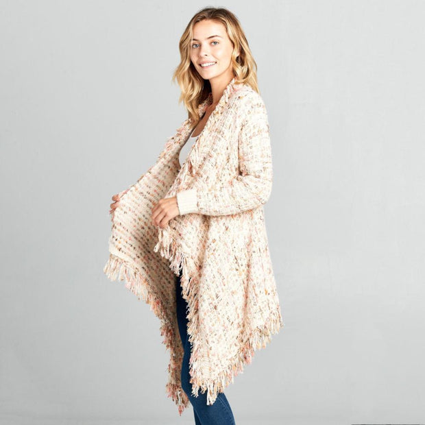 Ivory Fringe Cardigan - Nixon & Co Boutique